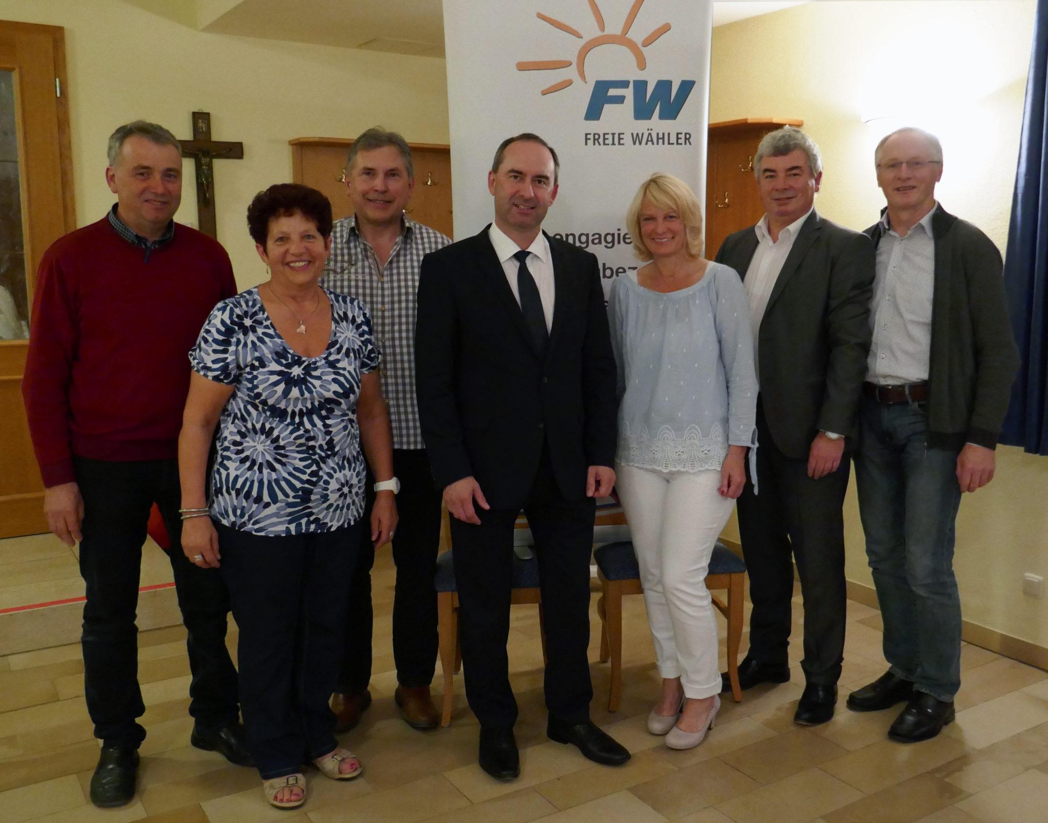 Vorstandschaft mit Bundesvorsitzendem Hubert Aiwanger